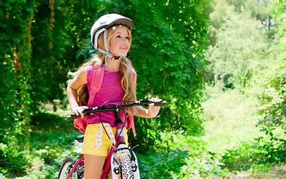 Child Children Bicycle Backgrounds Helmet Desktop Wallpapers