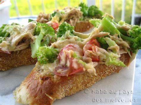 canapé au thon katia au pays des merveilles tartines au thon et brocoli