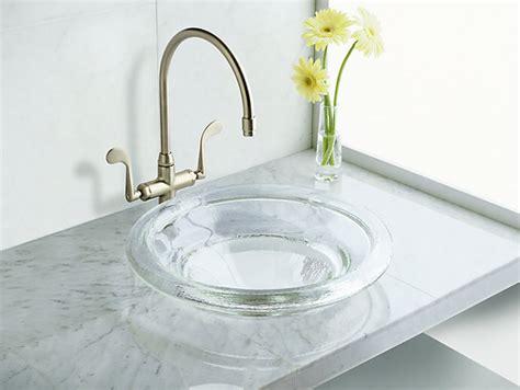 wall mount bathroom sink faucet installation k 2276 spun glass countertop sink kohler