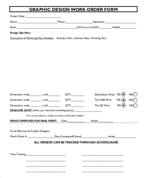 sample order form  examples   word