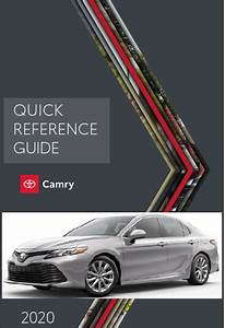 2020 Toyota Camry Quick Reference Guide Free Download Free