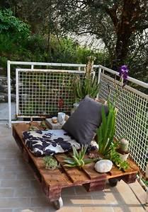 Terrasse Avec Palette : ma mini terrasse jardin sur palette lejardindeclaire ~ Melissatoandfro.com Idées de Décoration