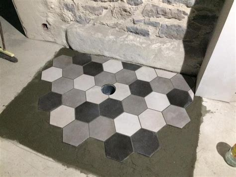 carrelage sol  mur blanc casse effet beton time