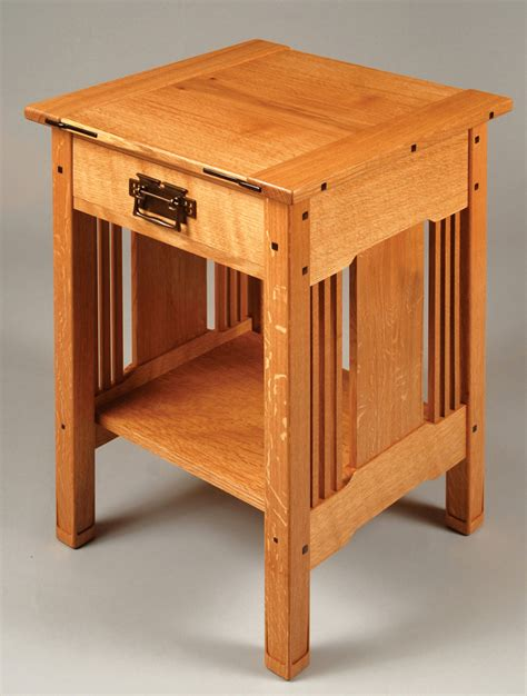 arts crafts bedside table popular woodworking magazine
