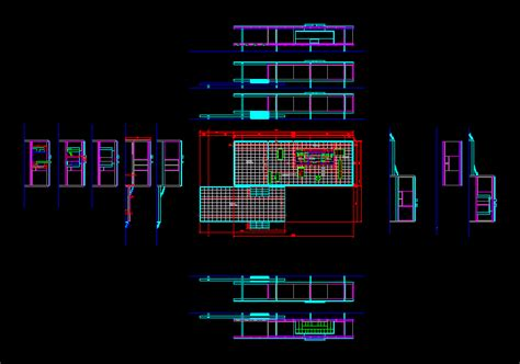 fansworth house dwg section  autocad designs cad