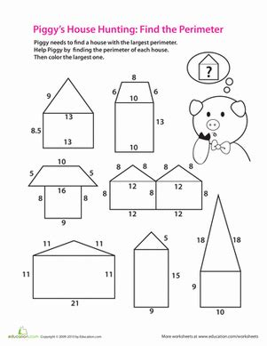 find  perimeter worksheet educationcom