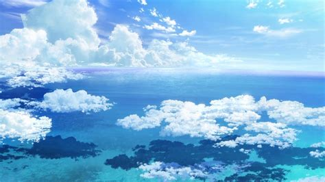Anime Sky Wallpaper - anime sky wallpapers wallpaper cave