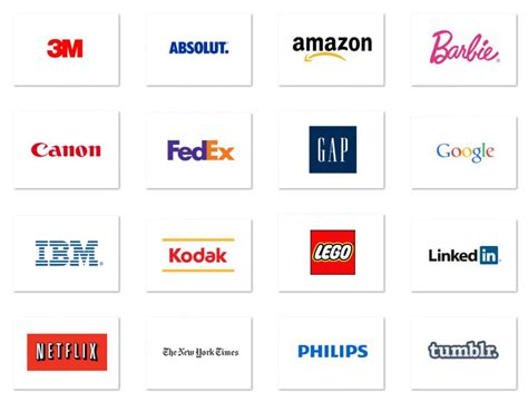 Top 20 Famous Brands With Typography Logos