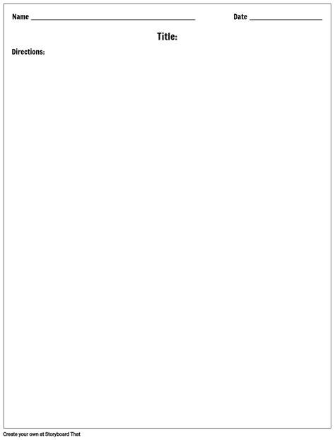 Blank Worksheet Templates   Worksheet Maker