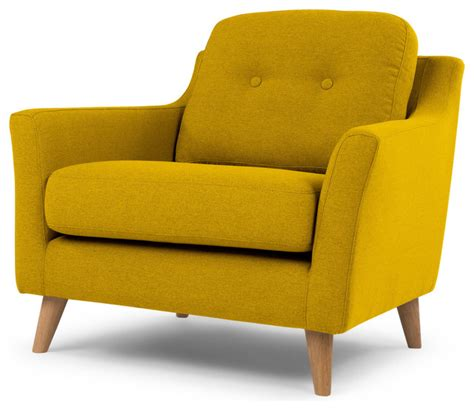 Mustard Yellow Accent Chair by Rufus Armchair Mustard Yellow Modern Armchairs