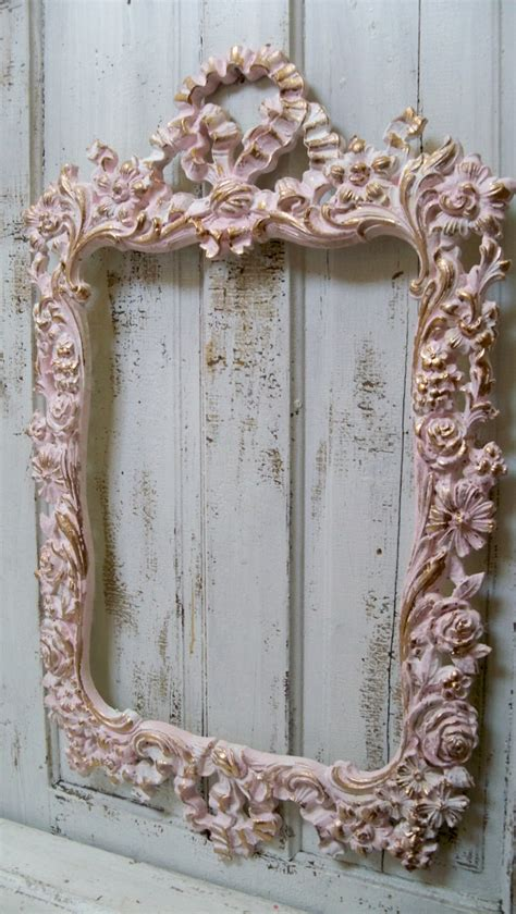 large shabby chic frame large shabby chic pink wall frame ornate white accented gold