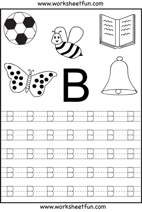 Free Printable Letter Tracing Worksheets For Kindergarten  26 Worksheets Abc123
