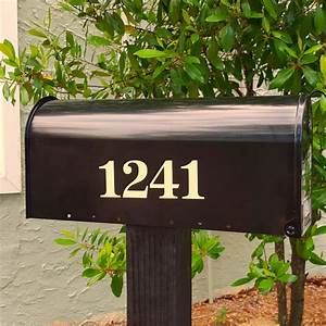 antiqua traditional style mailbox numbers With reflective mailbox letters