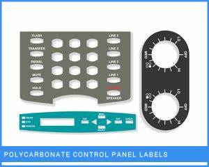 polycarbonate control panel labels industrial labels With control panel labels