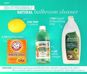6 all natural household dyi cleaners With how to make natural bathroom cleaner
