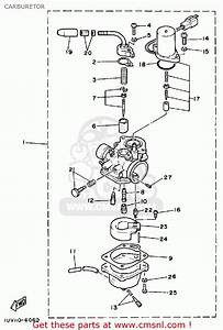 Yamaha Ce50es Riva Jog 1986 Carburetor