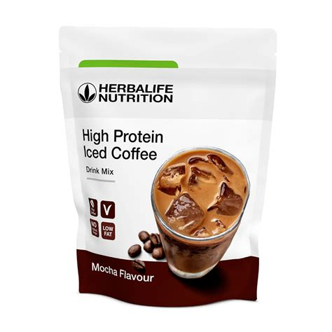 Using my herbalife nutrition products , two scoops of formula 1. High Protein Iced Coffee herbalife Sabor Coffee Latte Macchiato y Mocha