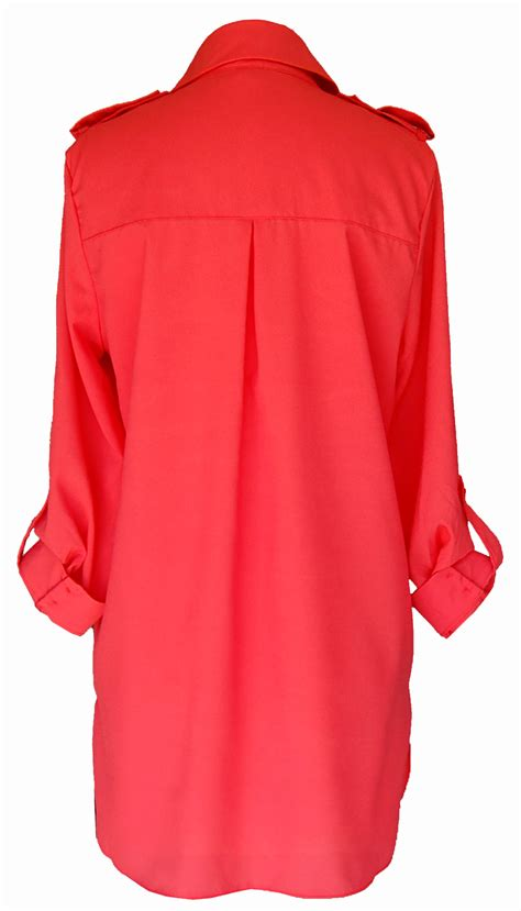 coral blouses and tops coral sleeve tunic blouse