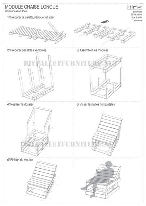 plan chaise de jardin en palette chaise en palette plan