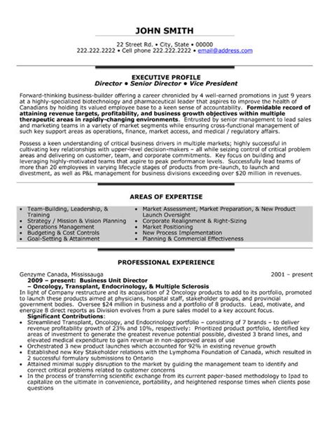 business unit director resume template premium resume