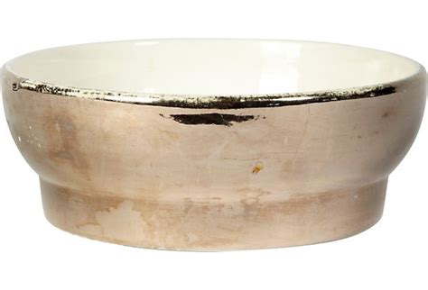 Silver Luster Bowl | Glazed ceramic, Bowl, Silver