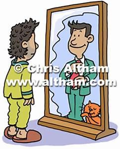 Looking In Mirror Cartoon