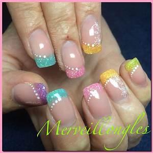 Ongles Pinterest : gel uv ongles en gel multicolore d co paillettes et stamping ongle pinterest ~ Dode.kayakingforconservation.com Idées de Décoration