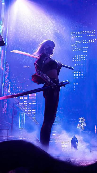 Cyberpunk 4k 2077 Night Fighter Wallpapers Phone