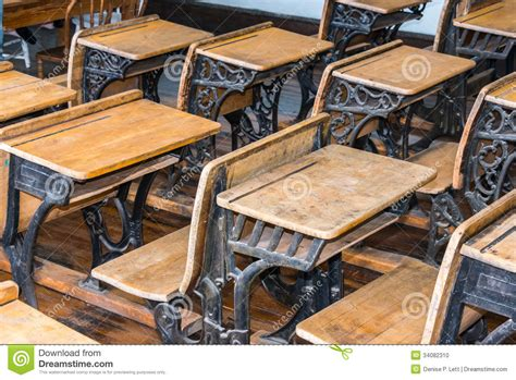 old fashioned desks for sale old student classroom desks stock photo image 34082310