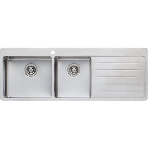 oliveri kitchen sinks sonetto 1 3 4 bowl topmount sink with drainer oliveri 1182