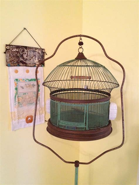 antique parrot cage threads in time by pallas antique bird cage