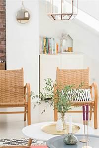 Stühle 50er Jahre : 50er jahre rattan st hle im wohnzimmer im boho vintage look deko details ~ Eleganceandgraceweddings.com Haus und Dekorationen