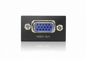 Mini Vga  Audio Cat 5 Receiver  1280 X 1024 150m
