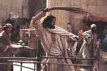 Image result for jesus angry turning over tables