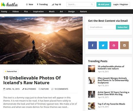 Katla Wordpress Theme For User Generated Content  Wp Solver