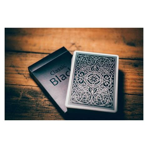classic black deck playing cards cartes magie