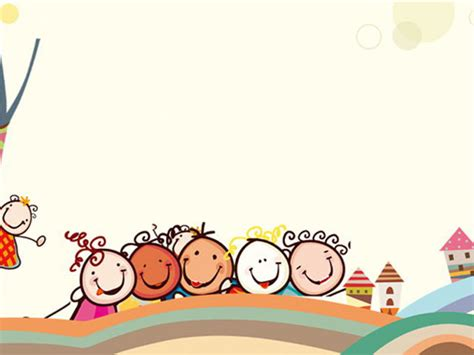 cute cartoons powerpoint background pictures pptcom