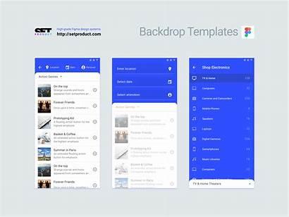 Ui Backdrop Figma Templates Material Template App