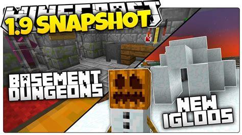 minecraft  snapshot  igloos dungeons custom loot minecraft  news youtube