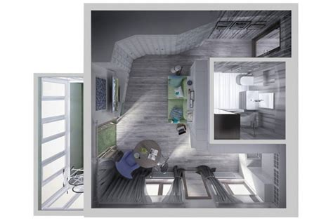Дизайнпроект маленькой квартиры 34 кв м