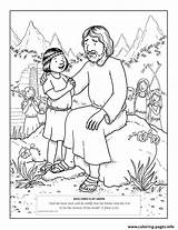 Jesus Coloring Christ Lds Savior Friend Printable Children Loves God Heaven Forgiveness Scripture Visits Primary Drawing Tell Child Nephites Mormon sketch template