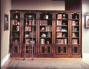 Vintage Library Bookcase With Ladder : Doherty House