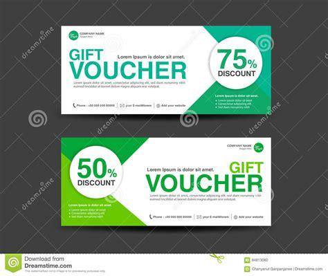 4 5 x 11 gift card template green discount voucher template coupon design gift