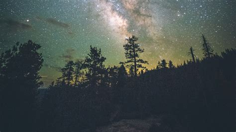 wallpaper  yosemite valley starry sky