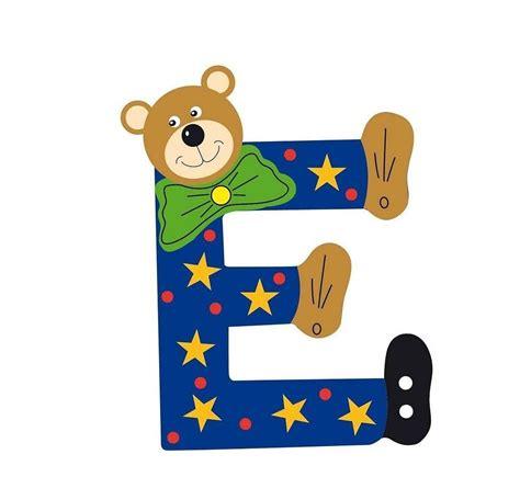 chambre bebe ourson lettre alphabet bébé en bois ourson e