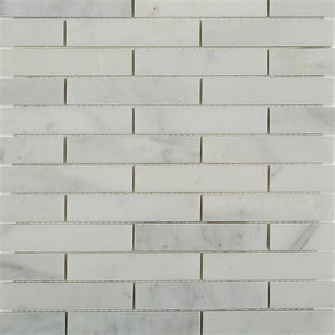 white marble brick tiles shop for asian statuary 3 4 x 4 big brick pattern marble mosaic tiles at tilebar com