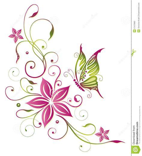 Flores borboleta ilustração do vetor Ilustração de