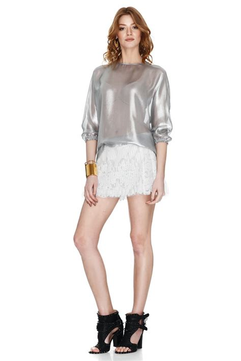 silver blouse silver blouse pnk casual