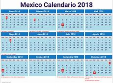 calendario 2018 mexico excel newspicturesxyz