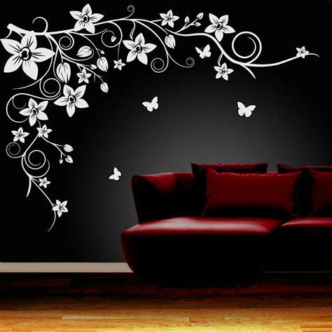 butterfly vine flower wall art stickers vinyl decals